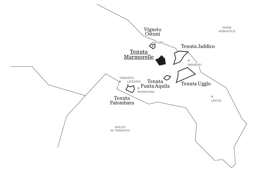 Marmorelle | Le tenute di Tenute Rubino - Casa del Susumaniello
