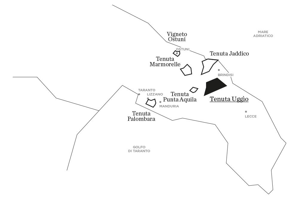 Uggìo | Le tenute di Tenute Rubino - Casa del Susumaniello