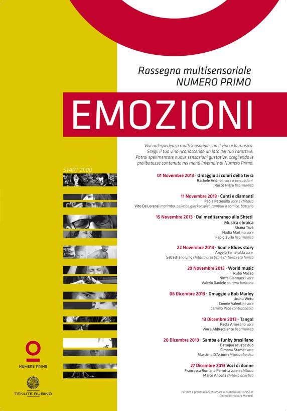 MUSICA, VINO E CIBO: EMOZIONI A NUMERO PRIMO