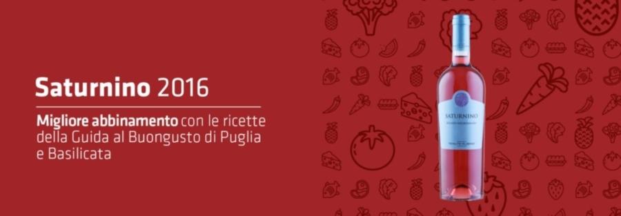 SATURNINO 2016 - MIGLIOR ABBINAMENTO CON LE RICETTE DELLA GUIDA AL BUONGUSTO