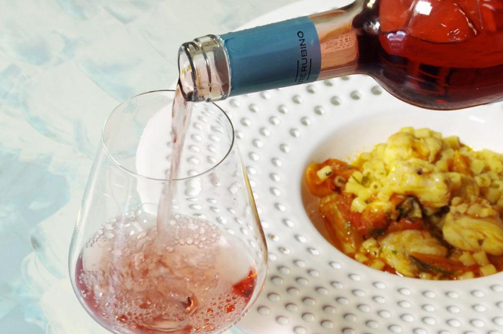 Abbinamento con il Saturnino: Tubettini con pescatrice - Tenute Rubino | Vini del Salento