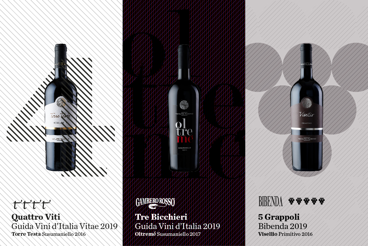 Torre Testa, Visellio e Oltremè Premiati - Tenute Rubino | Vini del Salento