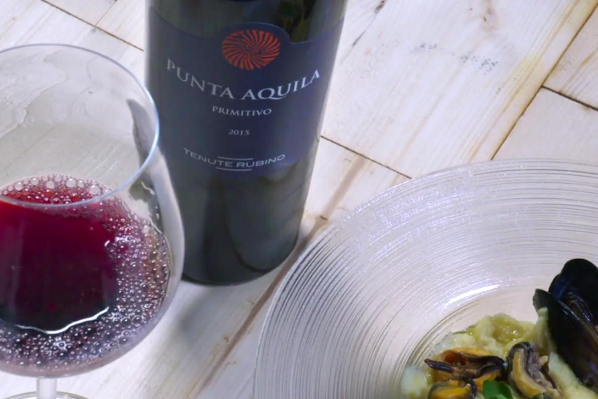 Purea di Fave secche, cozze e Punta Aquila - Tenute Rubino