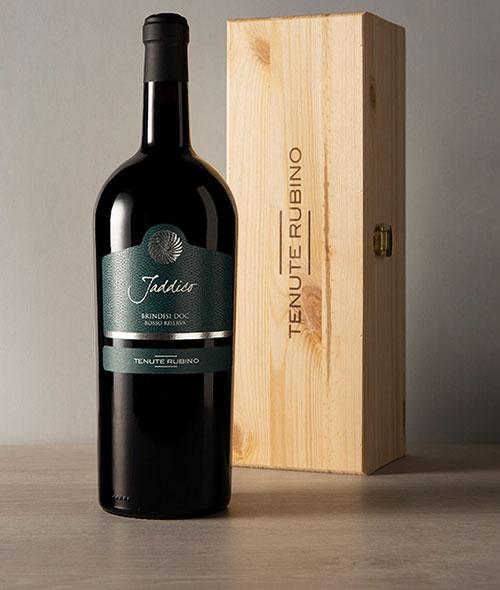 Jaddico Magnum con cassetta in legno | Tenute Rubino | Vini del Salento