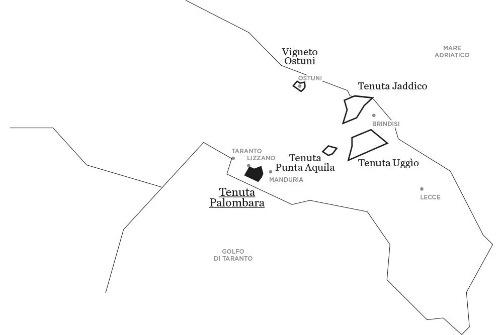 Palombara | Le tenute di Tenute Rubino - Casa del Susumaniello