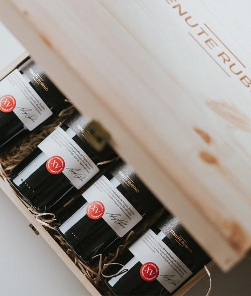 Visellio in cassetta di legno | Tenute Rubino | Vini del Salento
